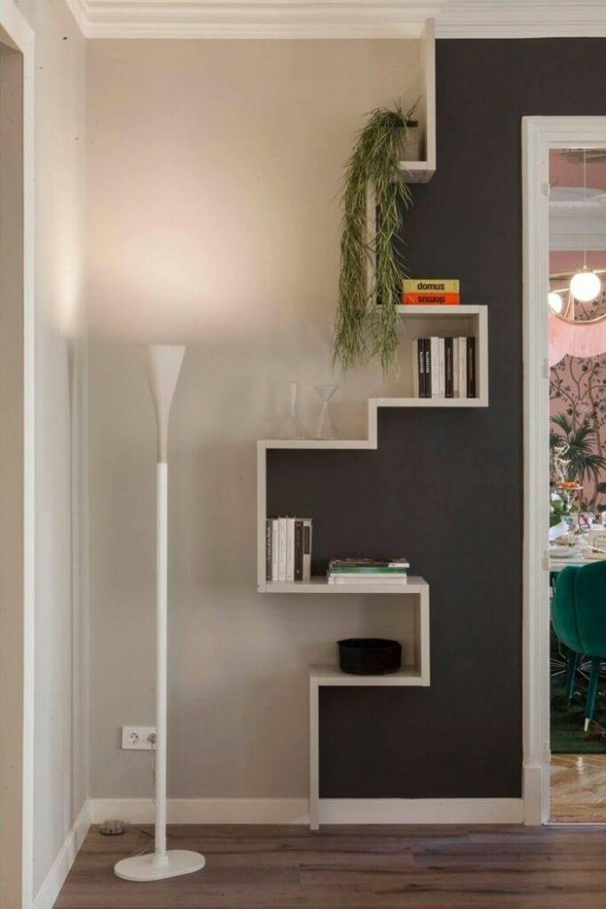 Geometric Vertical Bookshelf