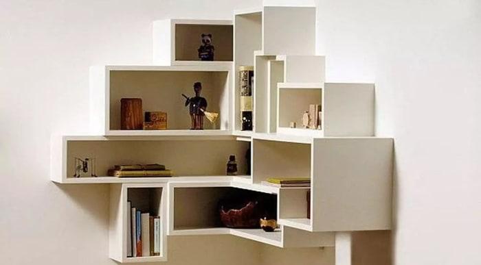 Modern Cube Corner Shelves