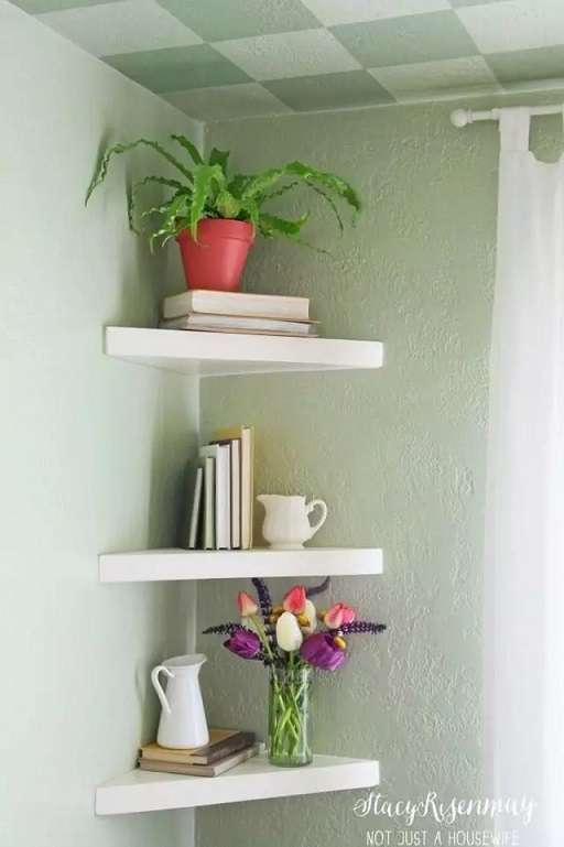 Simple Floating Triangle Shelves